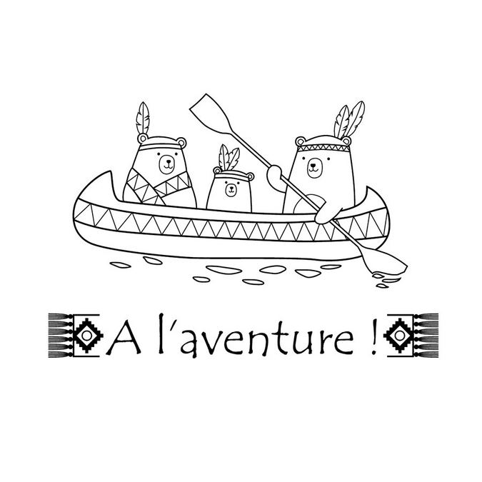 Tampons clear Totem A l' aventure - 2 pcs