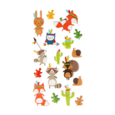 Stickers Puffies Totem Personnages x 17 pcs