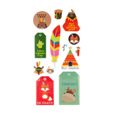 Stickers Puffies Totem XL x 12 pcs