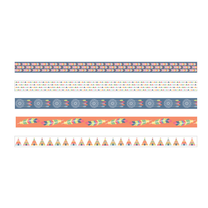 Masking Tape Totem Indiens x 5 pcs