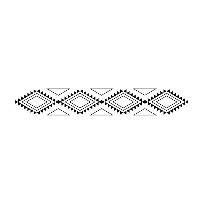 Tampon en bois Totem Bannière 2,6 x 10 cm