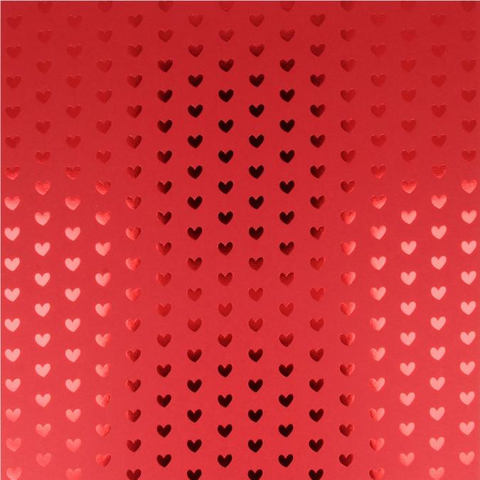 Papier Heart foil 30 x 30 cm Rose clair