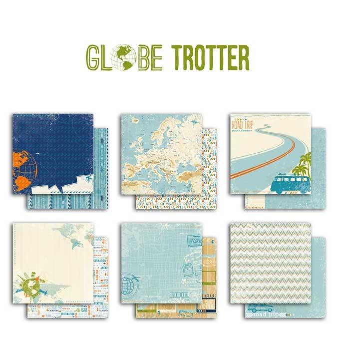 Papier Globe trotter 30,5 x 30,5 cm - 6 feuilles