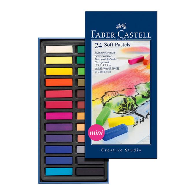 Boîte de 24 demi-pastels tendre carrés d'étude Creative Studio