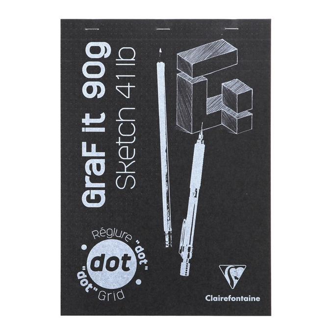 Bloc de papier GraFit DOT Papier avec repère 90 g/m² - 80 Fles