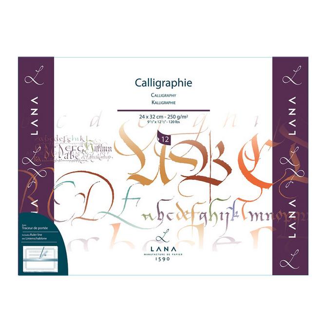 Bloc de papier Calligraphie Lana 250 g/m² 12 fles