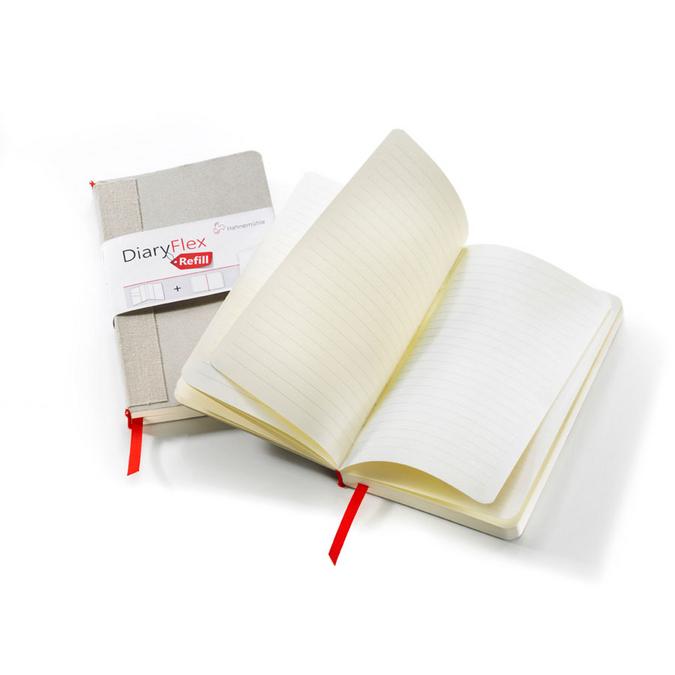 Recharge pour carnet Diaryflex Pages lignées 100 g/m² 80 fles