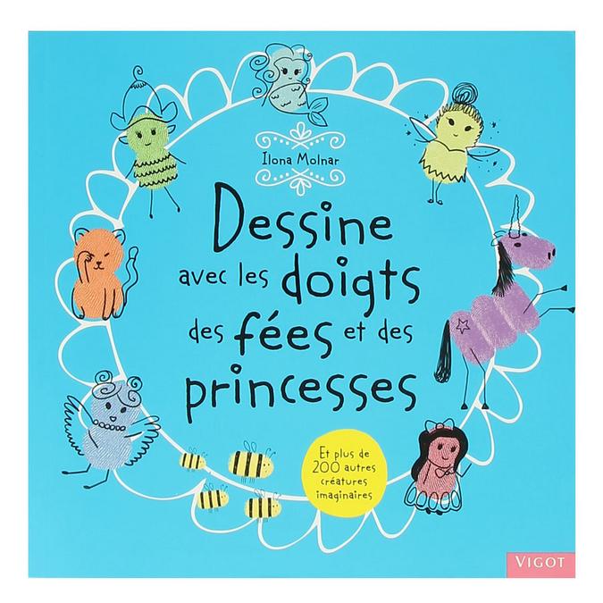 Livre Dessine avec les doigts des fées et des princesses