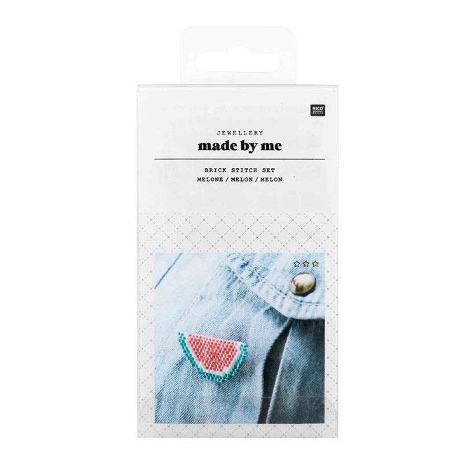Bijoux en kit Tissage de perles Broche pastèque