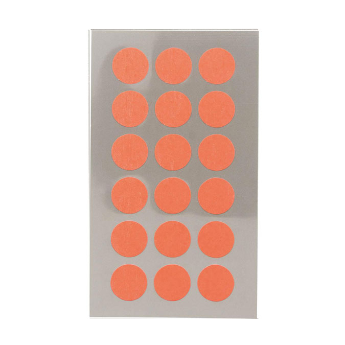 Gommettes rondes rouge fluo 15 mm