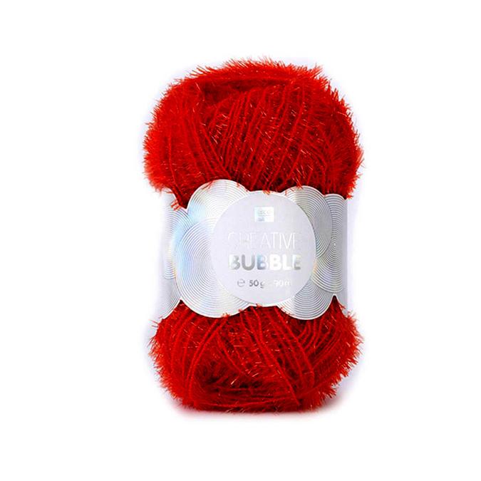 Pelote de laine éponge à tricoter Creative Bubble x 90 m Blanc
