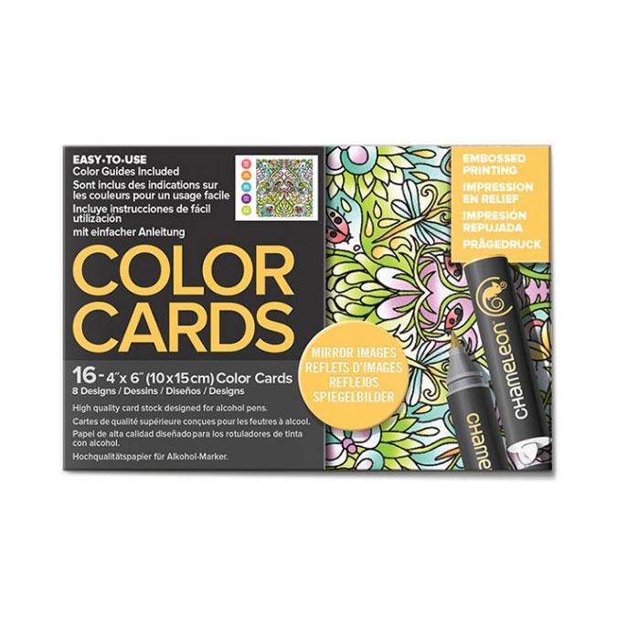 Carte à colorier Format carte postale 10 x 15 cm 16 pcs Thème Reflets d'images