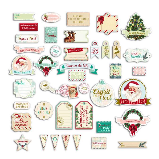 Découpe en papier Dear Santa textes de noël - 40 mots