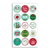 Stickers en volume puffy Joyeux noël Etiquette cadeau - 15 pcs