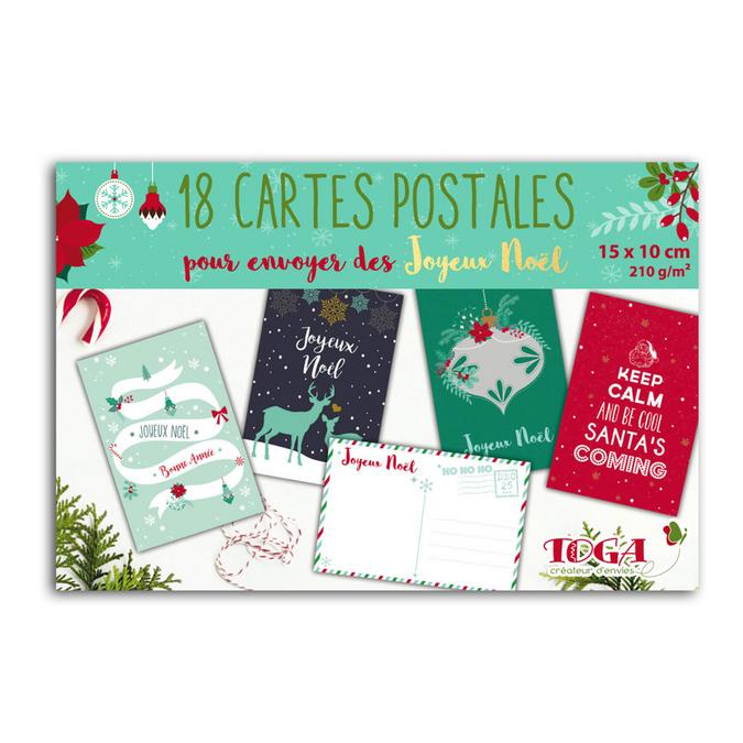 Bloc de papier Carte postale 10 x 15 cm Joyeux noël