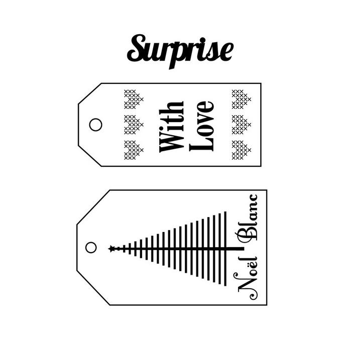 Tampons à monter Thème Home Sweet Home Etiquettes noël 7 x 9 cm