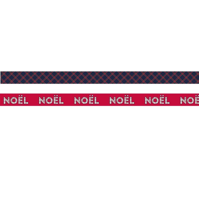 Ruban adhésif décoratif Noël Ecossais 15 mm x 5 m Noël