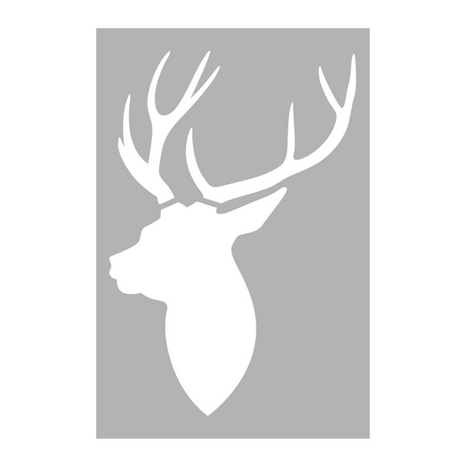 Pochoir tête de cerf 10 x 15 cm