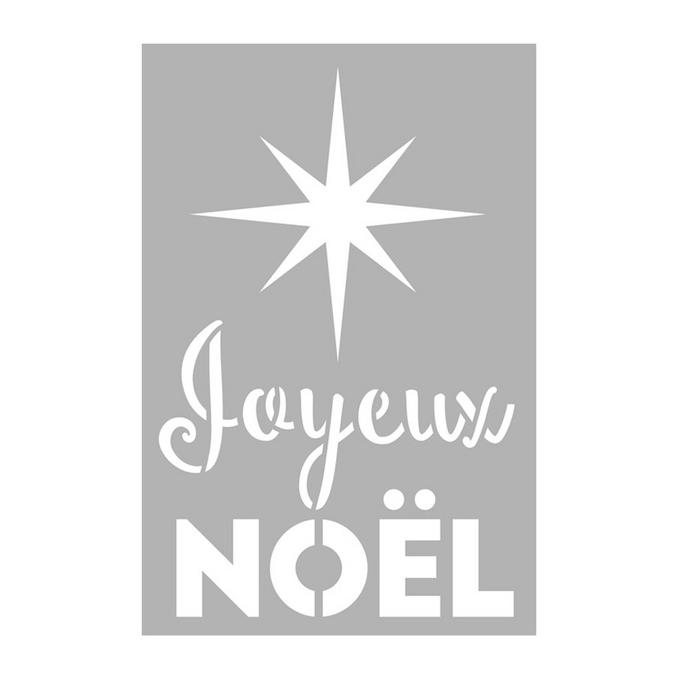 Pochoir Joyeux Noël 10 x 15 cm
