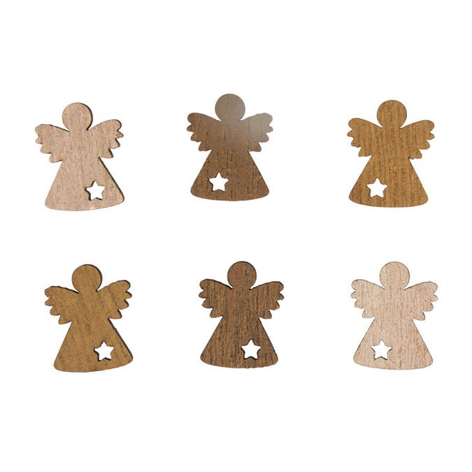 Miniature en bois Ange Ø 2 cm - 24 pcs