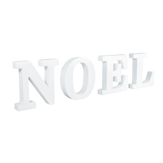 Décoration en médium Mot à poser Noël 44,5 x 2 x 11 cm