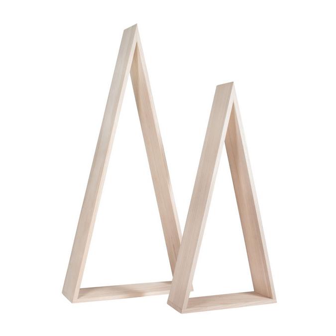 Décoration en bois à poser Triangle 42 et 54 cm - 2 pcs