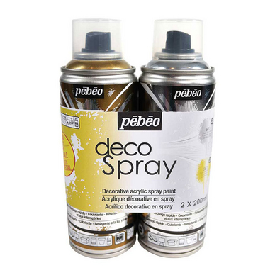peinture en bombe decospray set or argent 2 x 200 ml p b o chez rougier pl. Black Bedroom Furniture Sets. Home Design Ideas