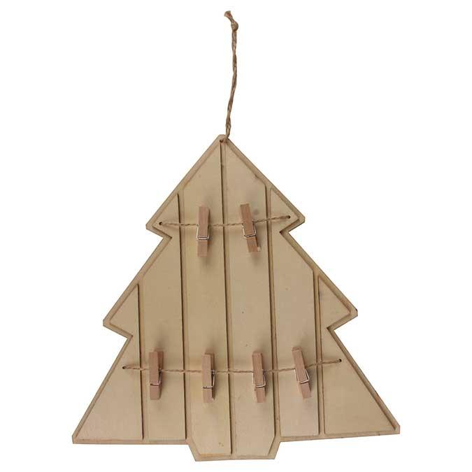 Décoration en bois à suspendre Pêle-mêle Sapin Ø 27,5 cm