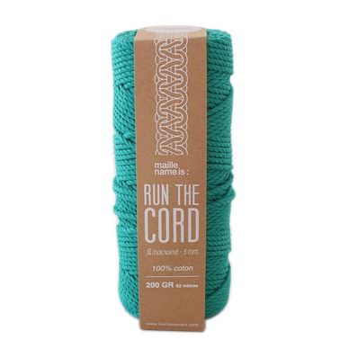 Fil macramé 3 mm Run the Cord 100% Coton - 62 m