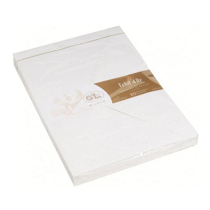 Enveloppes Eclats d'or C5 - 16,2 x 22,9 cm - 20 pcs Blanc