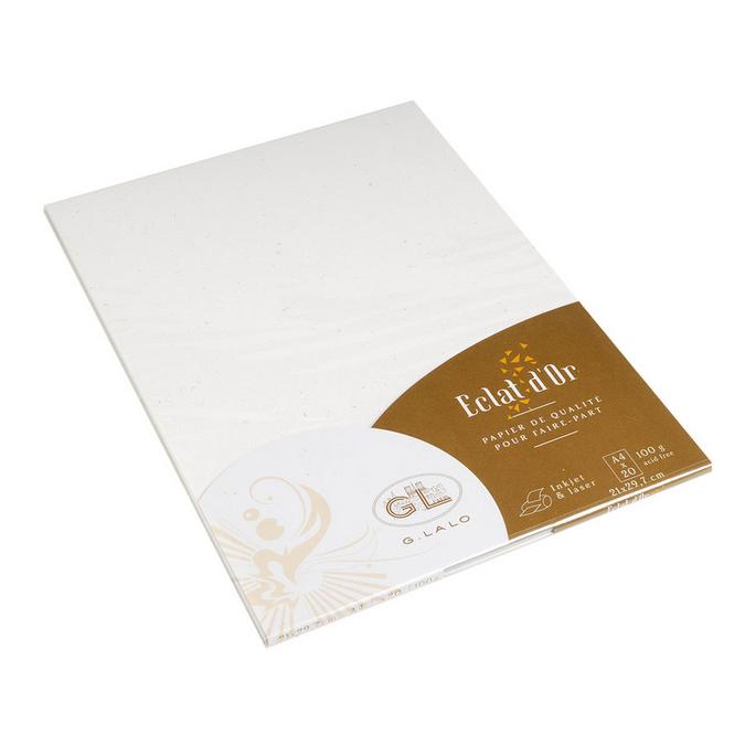 Papier à lettre Eclats d'or A4 21 x 29,7 cm - 20 pcs Blanc