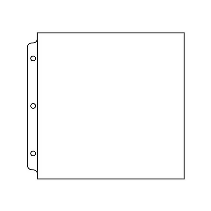 Pochette en polypropylène Format Scrapbooking 30,5 x 30,5 cm