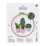 Broderie Kit Diamond Painting Cactus D.15,5 cm