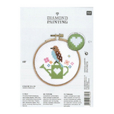 Broderie Kit Diamond Painting Oiseau D.10,5 cm