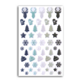 Mini stickers époxy Let It Snow x 55 pcs
