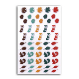 Mini stickers époxy Miel & Cannelle x 55 pcs
