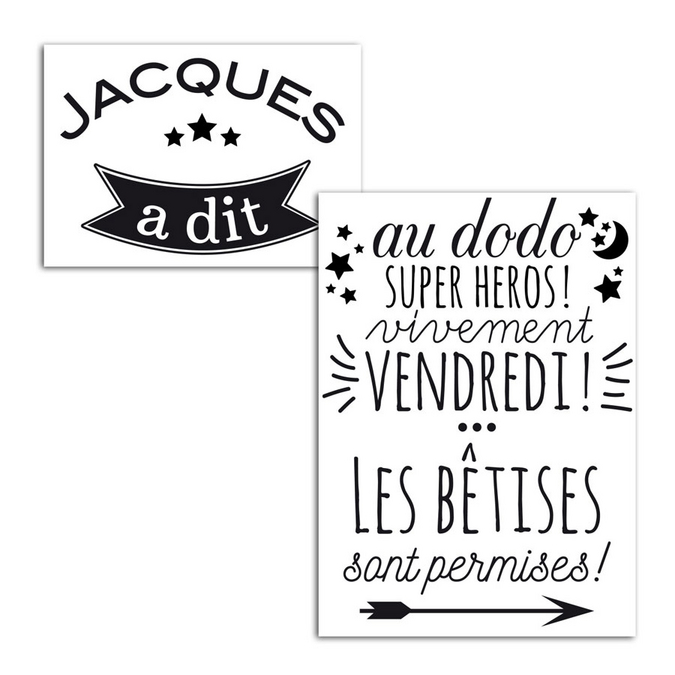 Motif thermocollant Jacques a dit A5