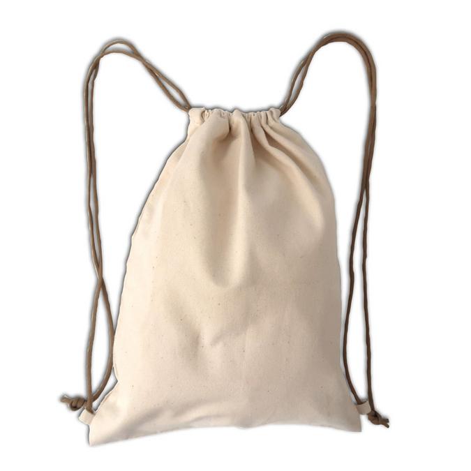 Sac enfant 100 % coton Blanc cassé 27 x 35 cm