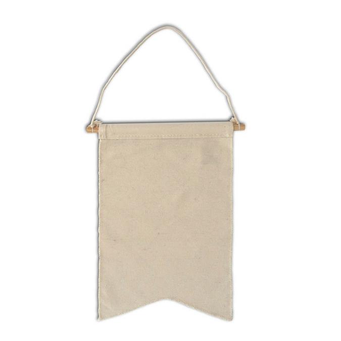 Fanion 100 % coton Blanc cassé 20 x 30 cm