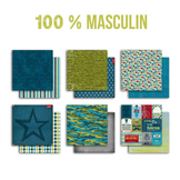 Papier assortiment 100 % Masculin x 6 pcs