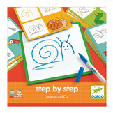 Jeu éducatif Apprendre à dessiner Step by step Animals and Co