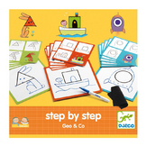 Jeu éducatif Apprendre à dessiner Step by step Geo and Co