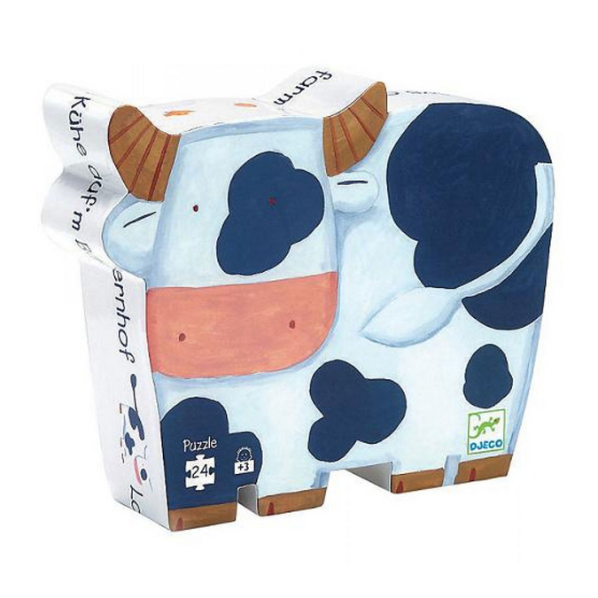 Puzzles silhouettes Les vaches à la ferme 24 pcs