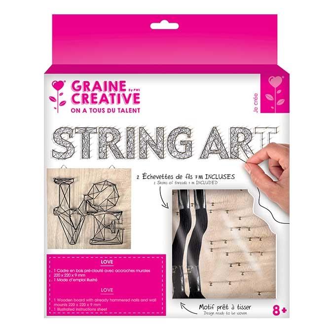 Tableau String Art set Love support 22 x 22 cm