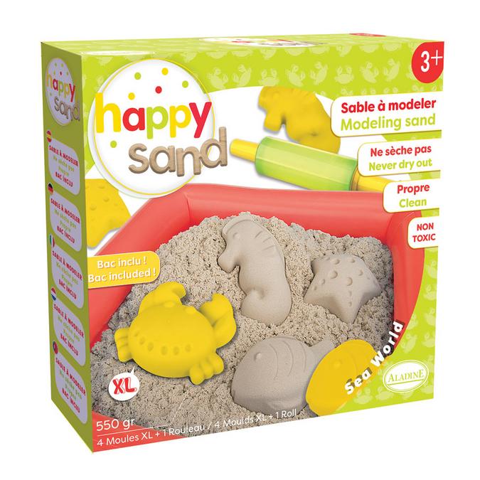 Sable à modeler Happy Sand Monde de la mer + 550 g