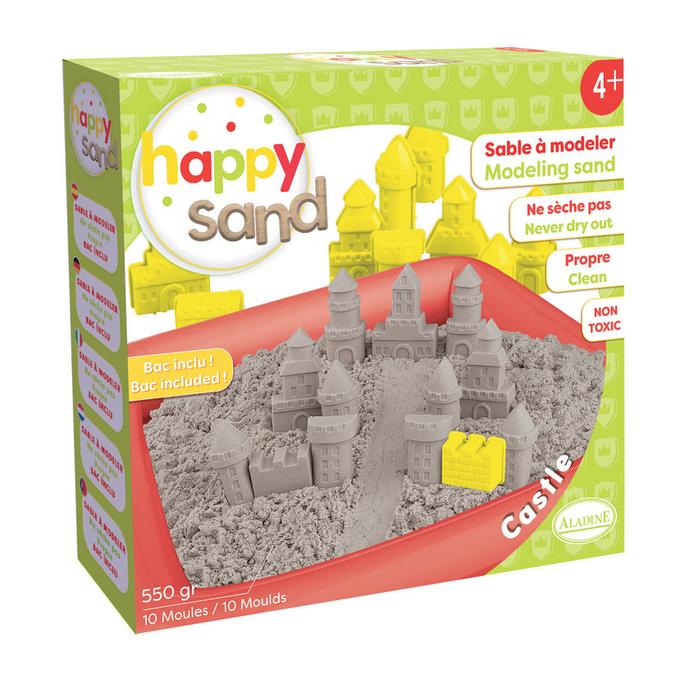 Sable à modeler Happy Sand Château + 550 g