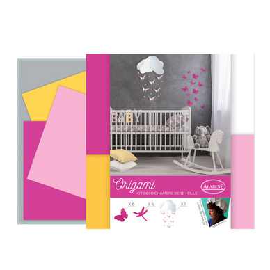 origami kit d co de chambre rose aladine chez rougier pl. Black Bedroom Furniture Sets. Home Design Ideas