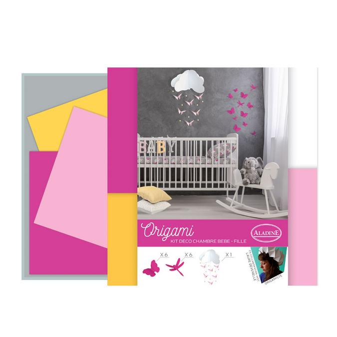 Origami kit déco de chambre Rose