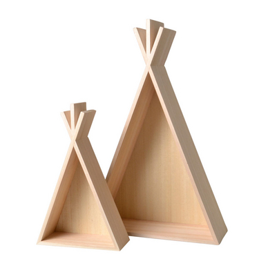 etag re en bois tipi 45 cm 2 pcs artemio chez rougier pl. Black Bedroom Furniture Sets. Home Design Ideas