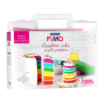 mallette fimo rainbow cake fimo chez rougier pl. Black Bedroom Furniture Sets. Home Design Ideas